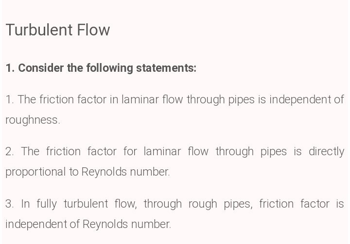 Which factor determine the friction for turbulent flow