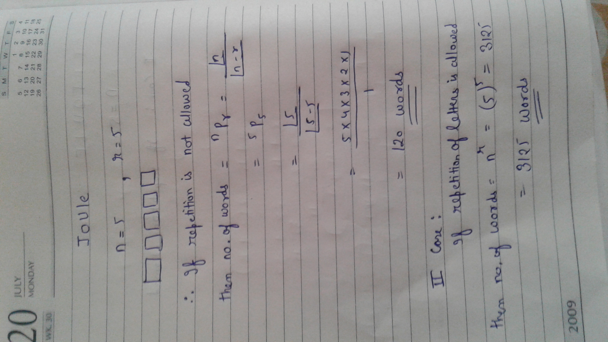 How Many Words Of 2 Vowels And 3 Consonants May Be Formed From The