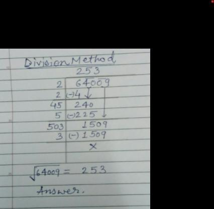 find the square root of 6084 by long division method