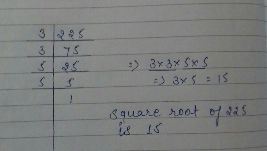 How To Do Square Root Of 225 Brainly In The square root of a negative number results in an imaginary number noted by the letter i. how to do square root of 225 brainly in