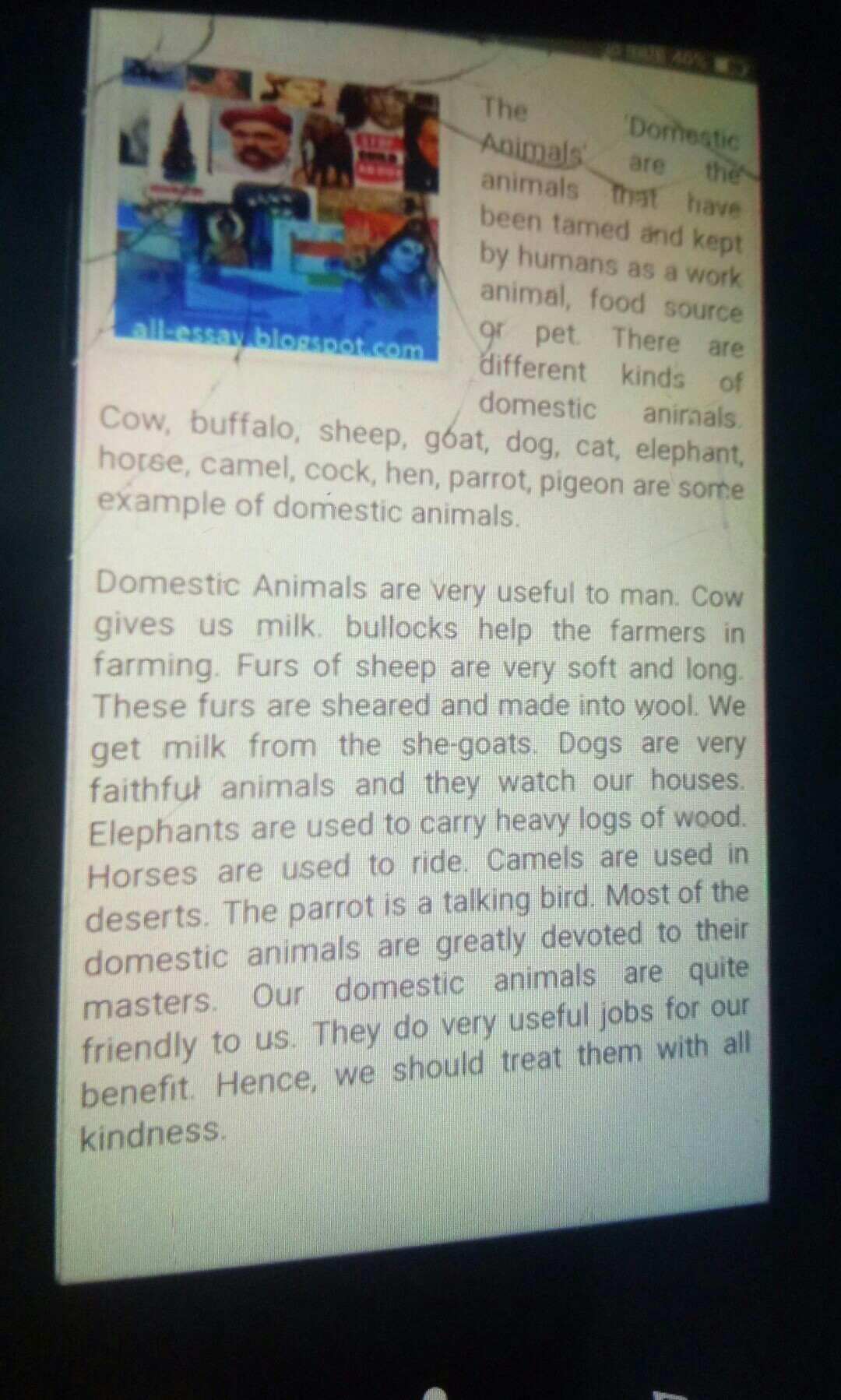 Speech on domestic animals used in agriculture work - Brainly in
