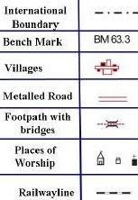 symbols used in maps Conventional Signs And Symbols Used In Topographic Maps In India symbols used in maps