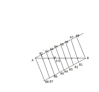 Draw A Line Segment Ab Of Length 7cm Find A Point P On Ab Such That