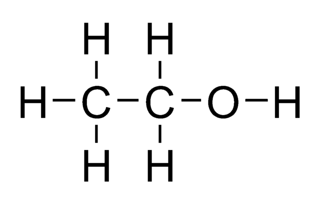 draw the electron dot structure of ethanol   c2h5oh
