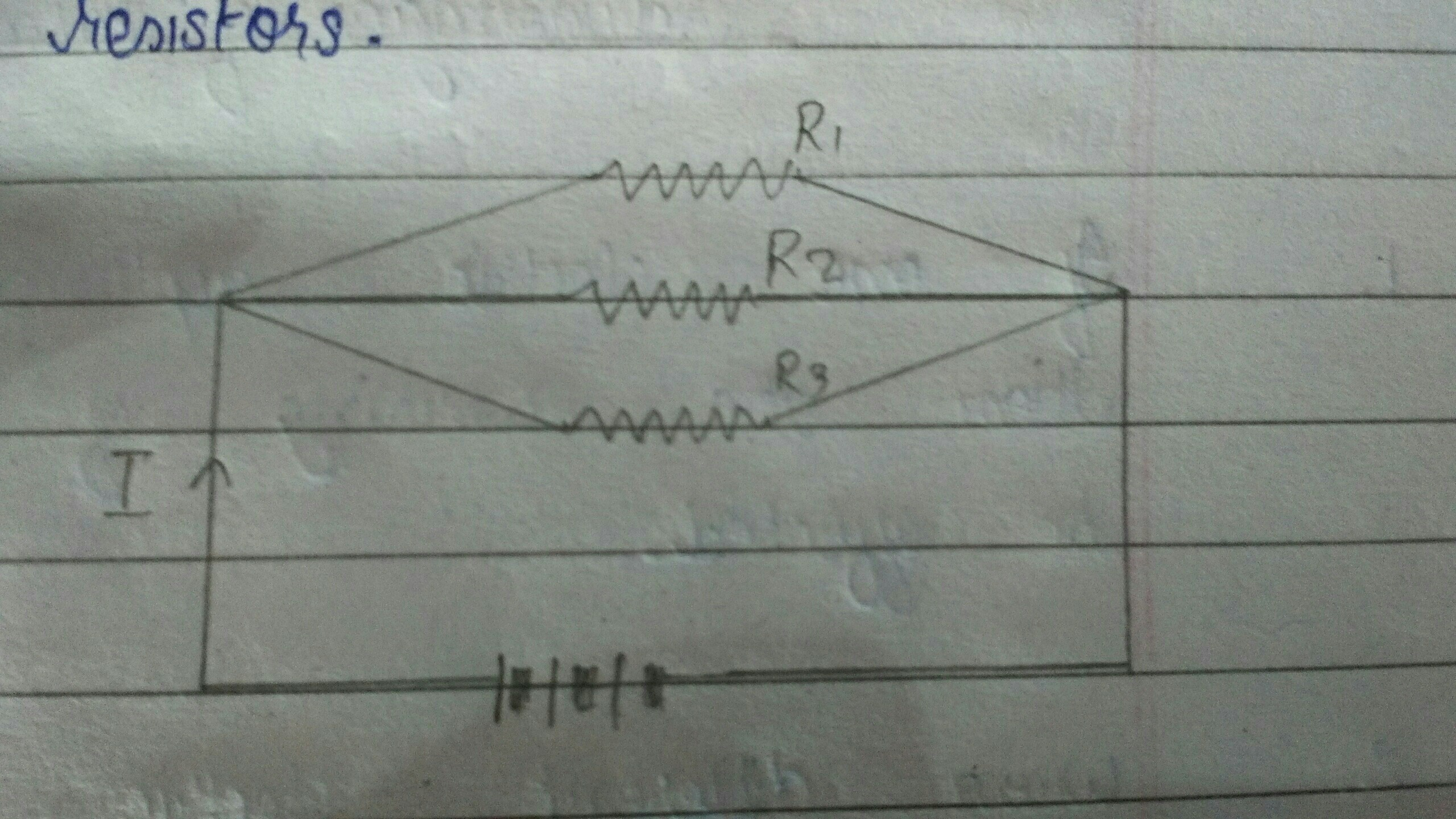 Three Resistors R1 R2r3 Are Connected In Parallel To A Source Of Circuit By Connecting All Series With Your Power Download