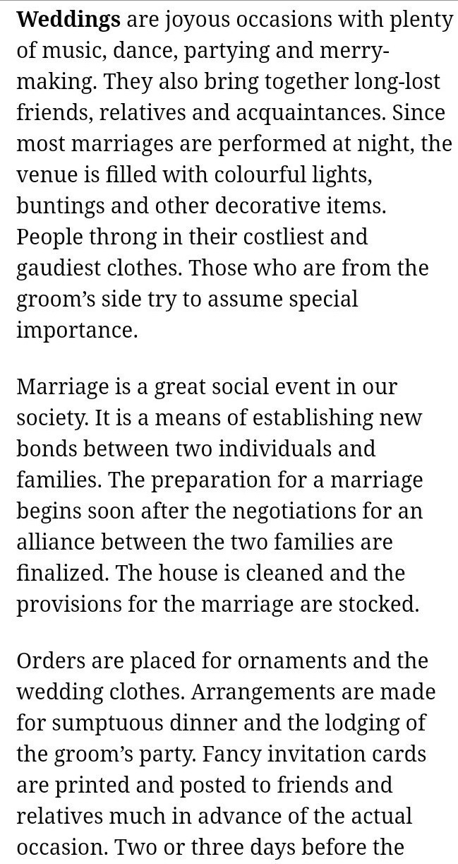 an essay on indian wedding