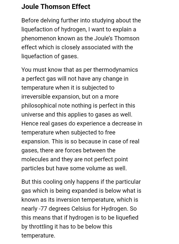 Why h2 gas cannot be liquified under joule thomson expansion