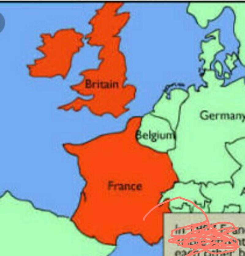Map Of England France And Germany.Locate The Following In The World Map 1 Britain 2 France 3