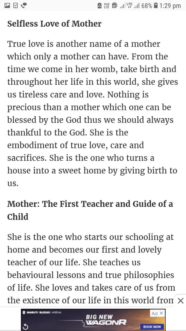 essay my mother essay in english for class amegobec with my mother