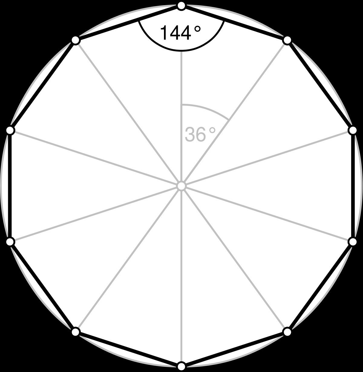 Draw A Decagon 10sides And Nonagon 9 Sides Brainly In
