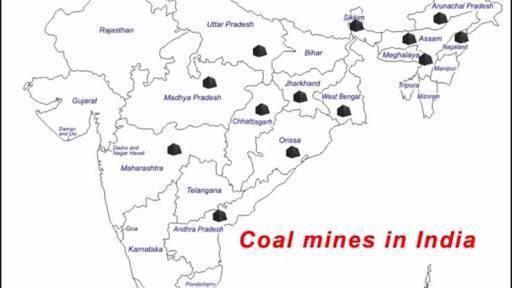 locate at least 3 sites of coal, uranium, iron, ore