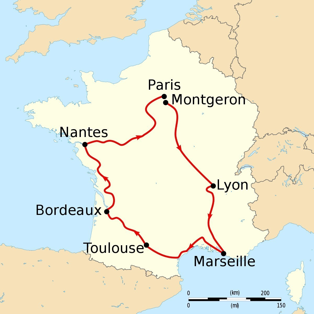 Outline Political Map Of France.On The Outline Map Of France Locate The Following Places A Nantes