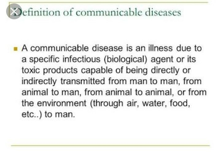 Write About Communicable Disease And Un Communicable