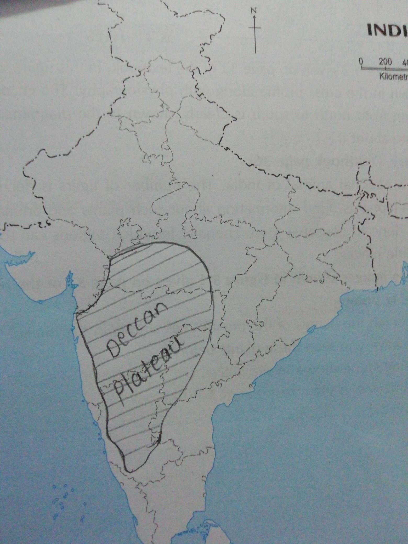 Where is Deccan Plateau in India map - inly.in on