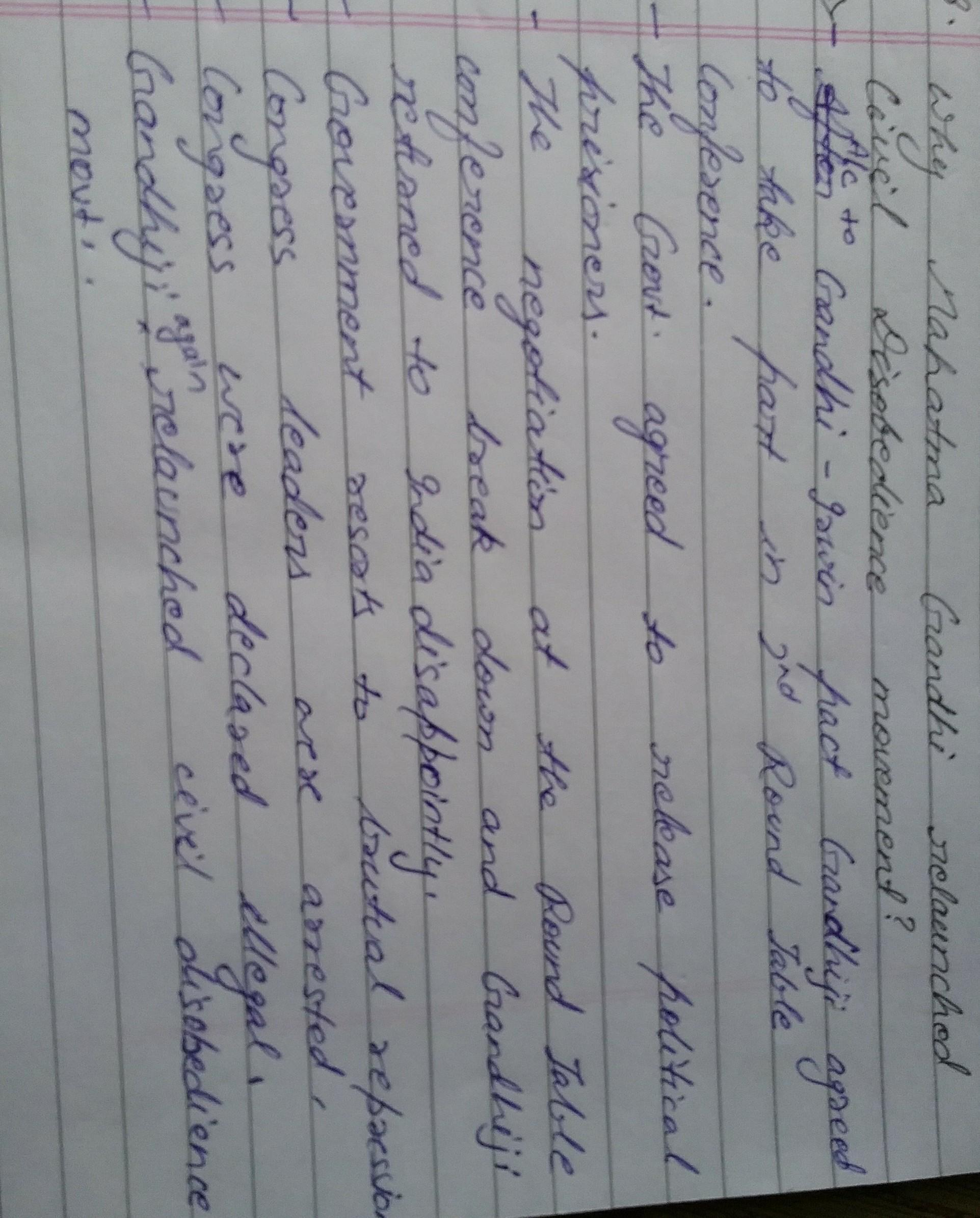 Why Did Mahatma Gandhi Relaunched The Civil Disobedience Movement With Great Apprehension Brainly In Write An Essay On