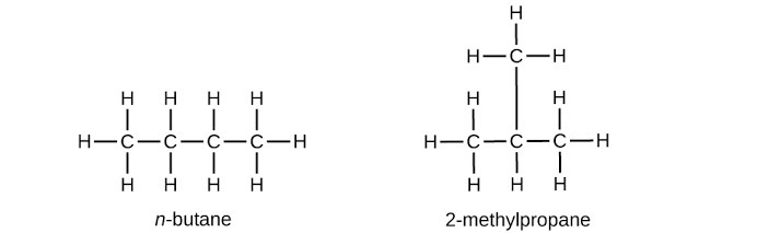 Draw The Structure Of N Butane And Isobutane Brainly