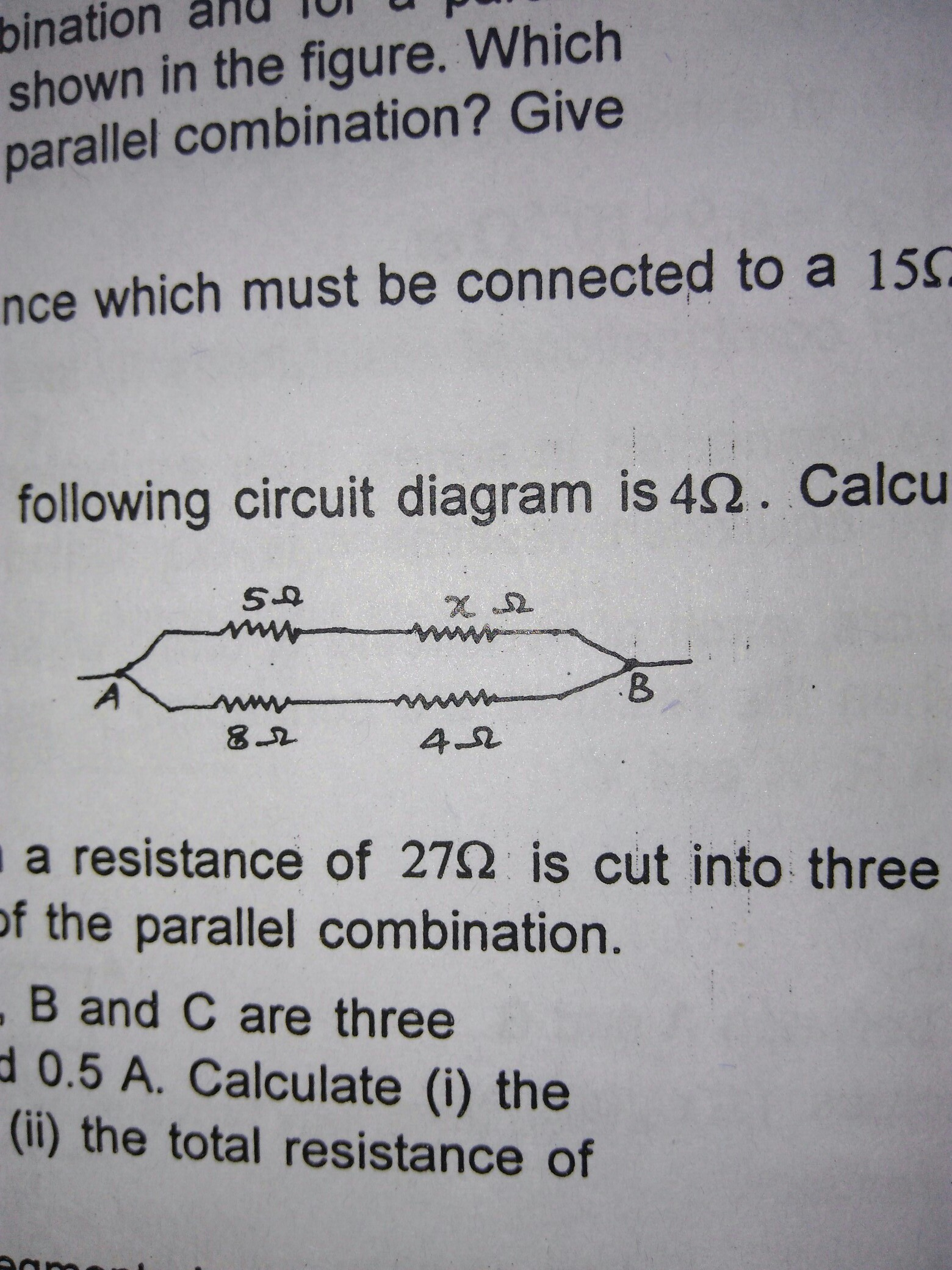 The Equivalent Resistance Of Following Circuit Is 4ohm How Does Someone Calculate Total Such A Download