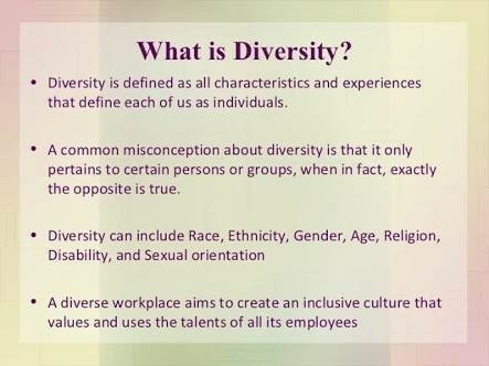 explain what is meant by diversity