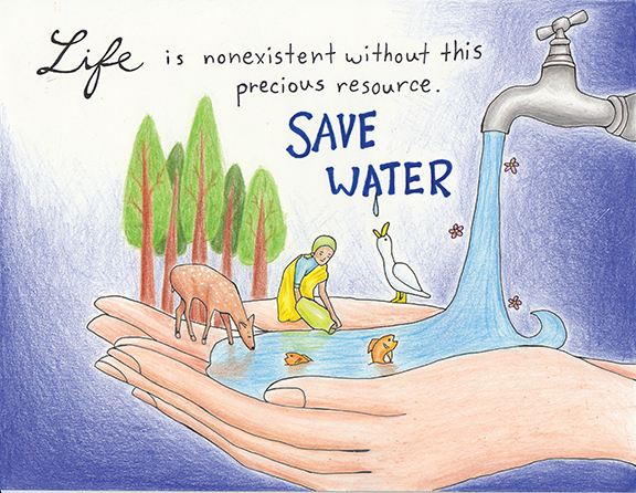 Poster on save water with slogan brainly download jpg altavistaventures Gallery