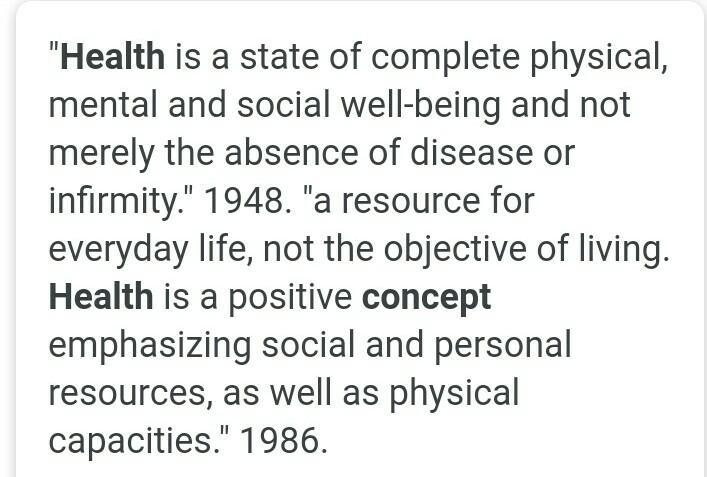 Write The Concept Of Health In Broader Term Brainly In