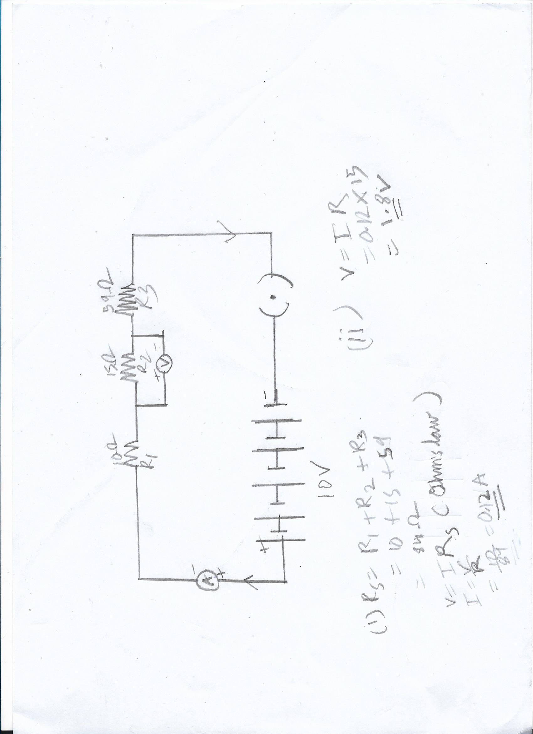 15 draw a circuit diagram for a circuit consisting of a battery of five cells of 2 volts each  a