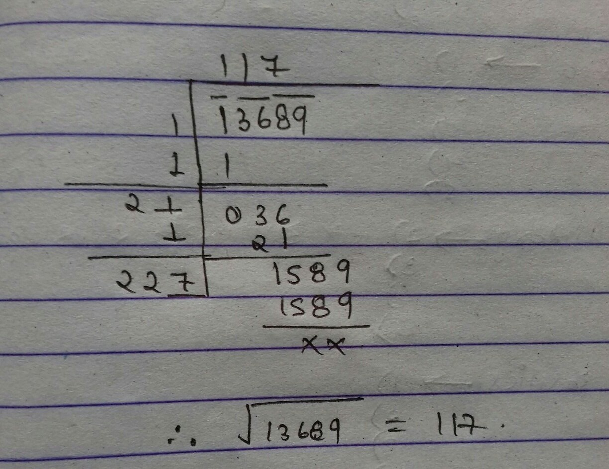 Find the square root by long division method 4096 - Brainly.in