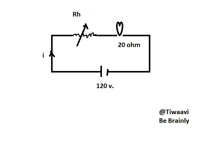 a 120 v lamp dimming circuit is controlled by a rheostat and png