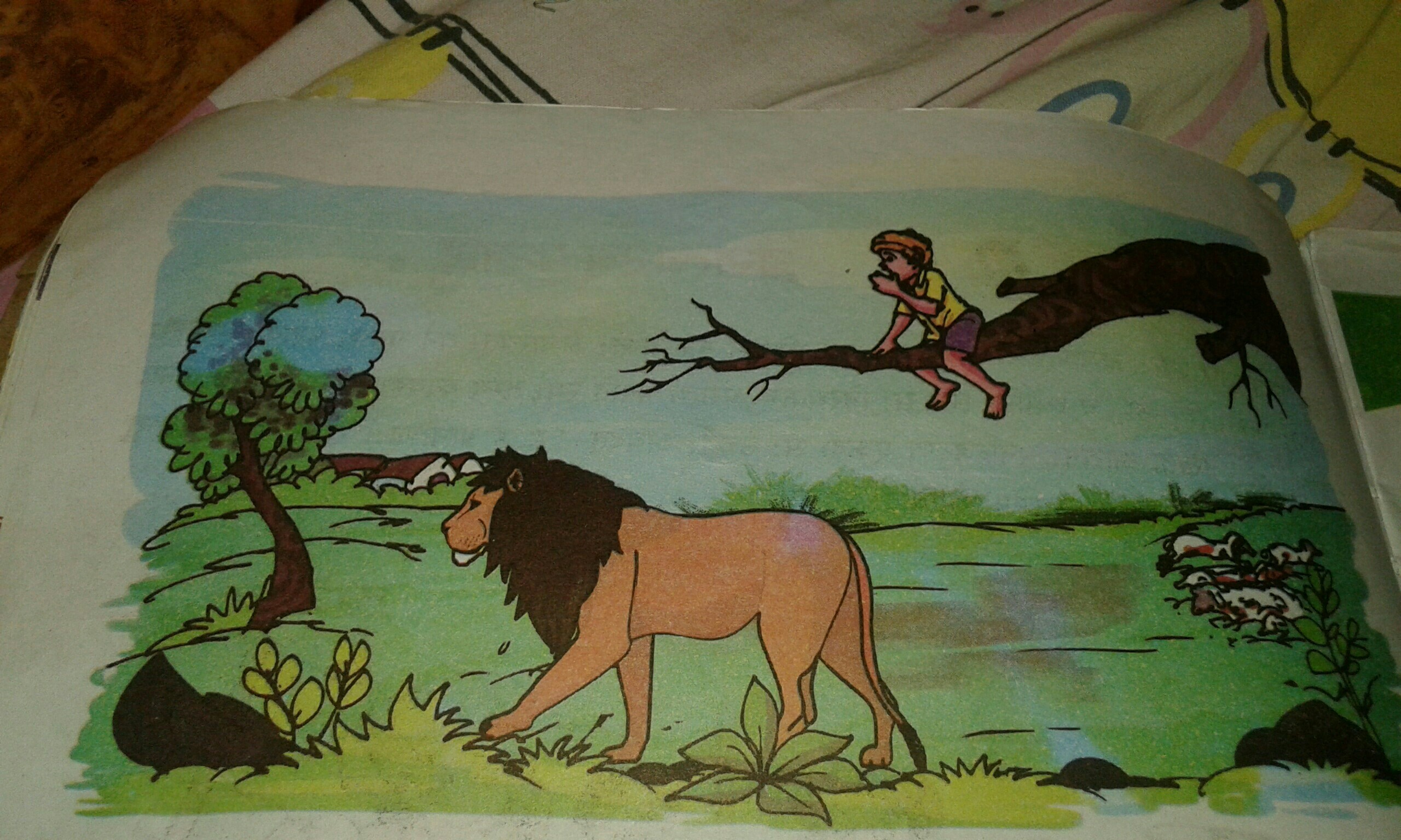 The shepherd boy and the lion wolf in Hindiand lion story