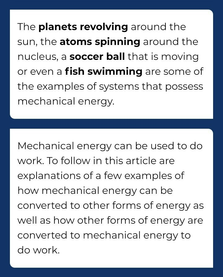 10 Examples Of Mechanical Energy Transformed Into Electrical Energy