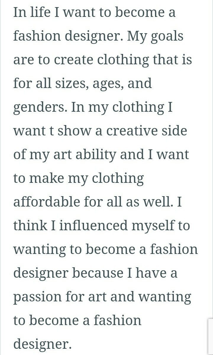 Paragraph On My Dream Of Life Fashion Designer Brainly In