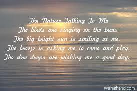 A Short Poem On Nature Brainlyin