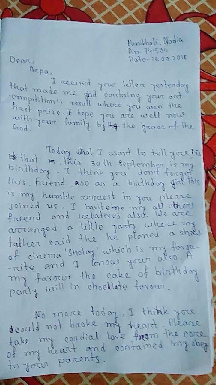 Informal Letter For Inviting Ur Friend