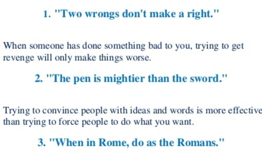 25 proverbs from 10th english textbooks - Brainly in