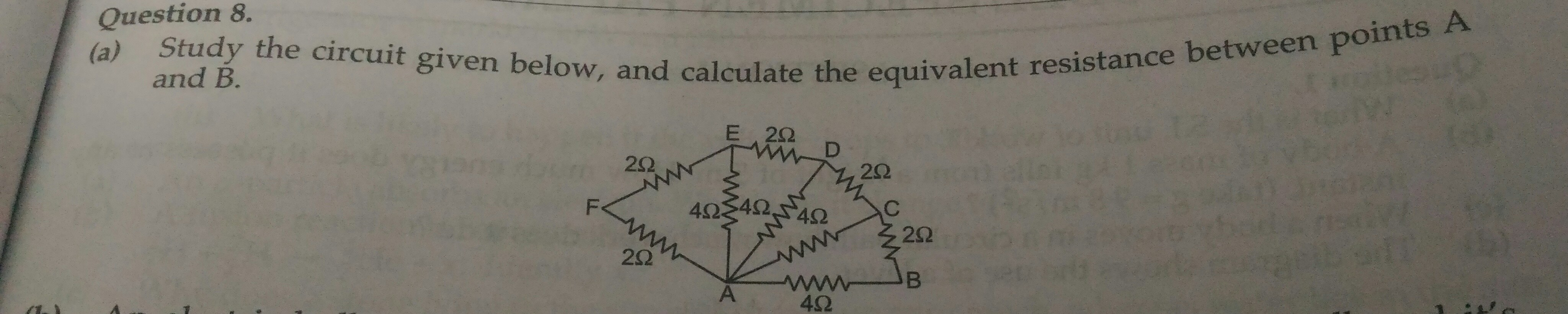 Find The Equivalent Resistance Of Resistors In Photo What Is Circuit Below