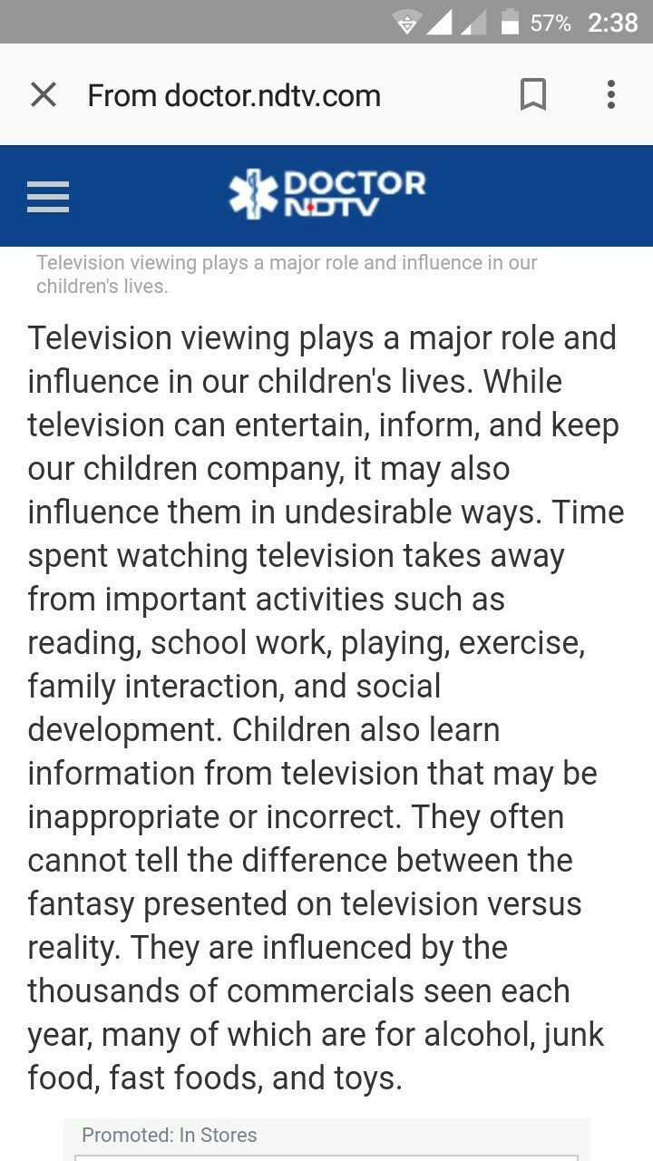 Find Another Essay On Should Children Watch Television?