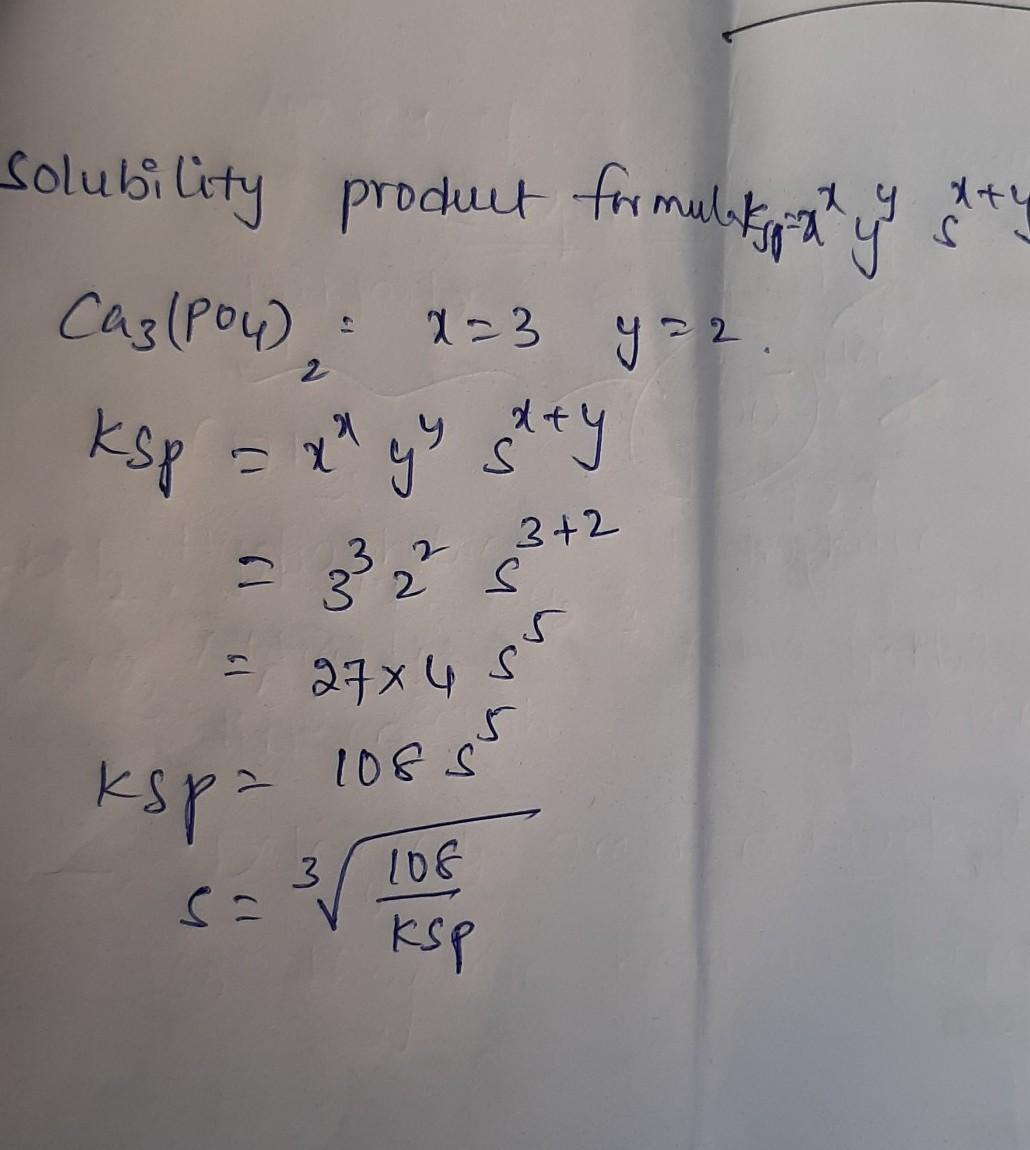 The Solubility Of Ca3 Po4 2 Is S M The Solubility Product Of Ca3 Po4 2 Is Brainly In Is formed by the complete neutralization of phosphoric acid with slaked lime and subsequent filtration, drying, and grinding. the solubility product of ca3 po4 2 is