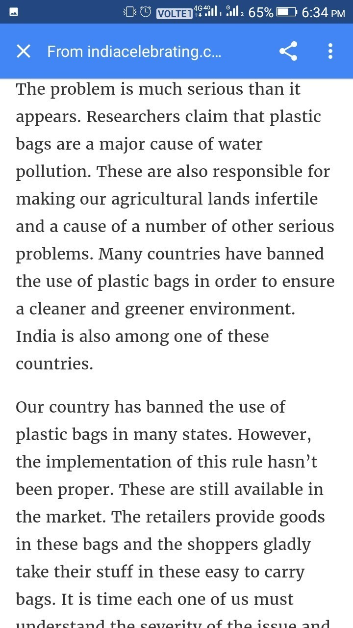 1. Plastic Bags Should Be Banned Essay