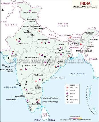 where is manganese found in india