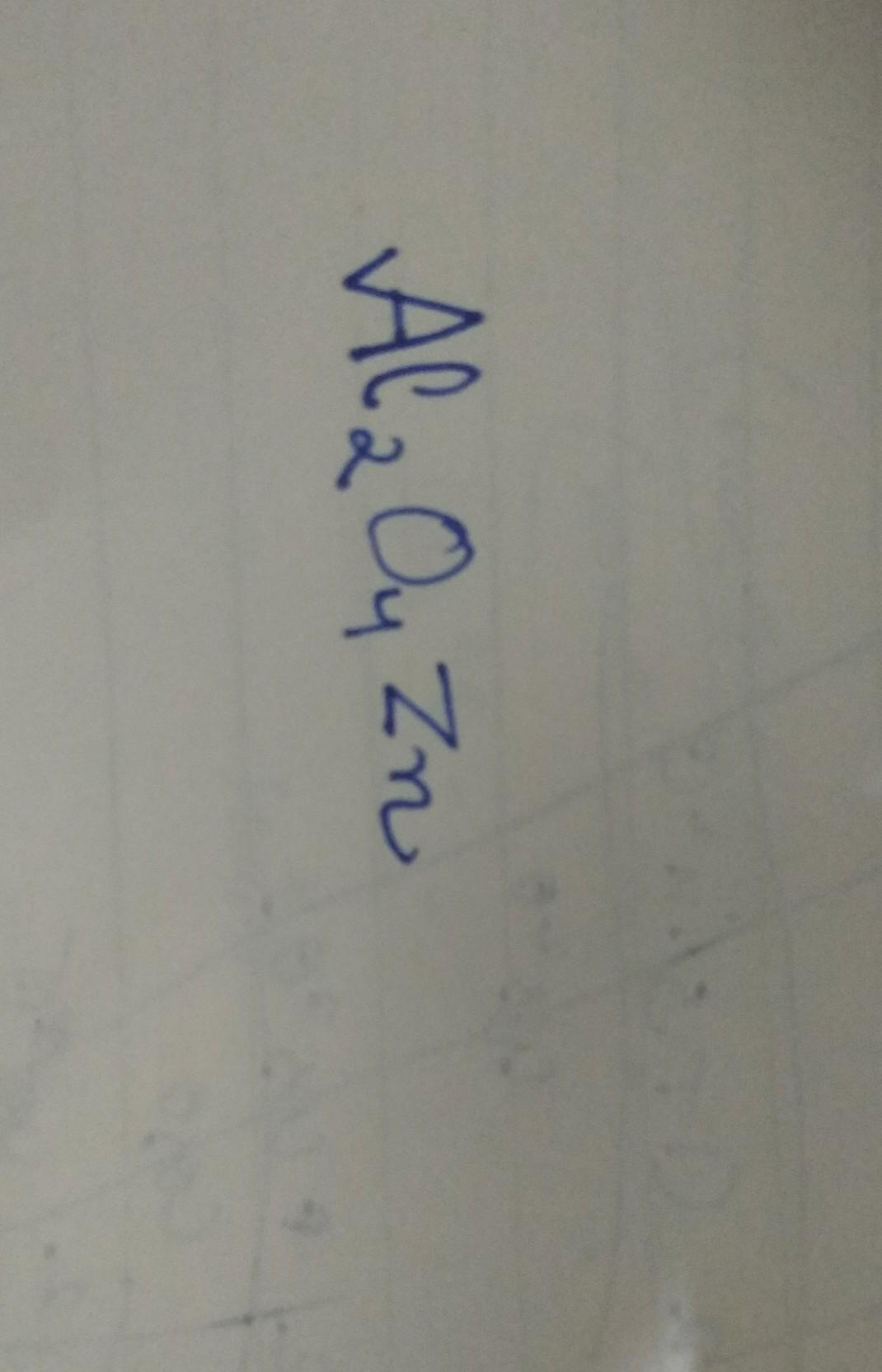 how to write formula of aluminate and zincate - Brainly in