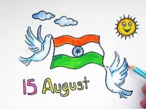 Draw Picture On Independence Day Brainly In