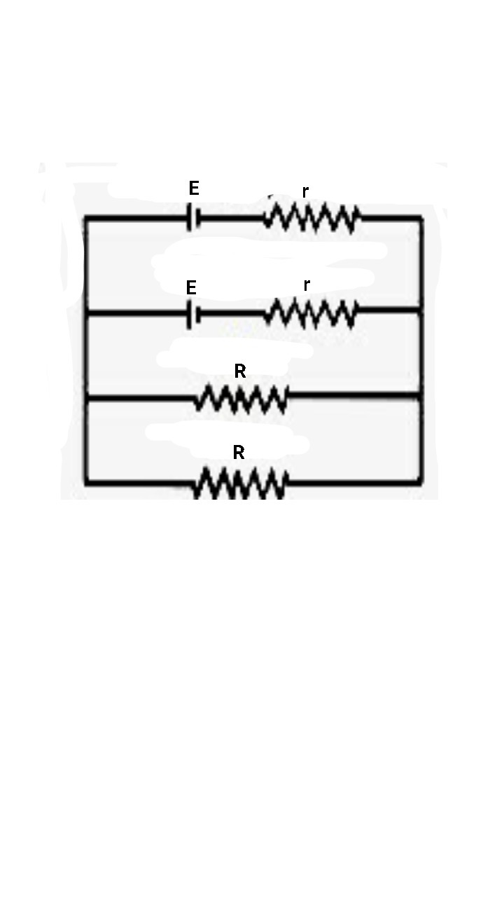 Two Identical Cells Of Emf 15v Each Joined In Parallel Provide Is A Simple Circuit Diagram Consisting Battery Resistors Download