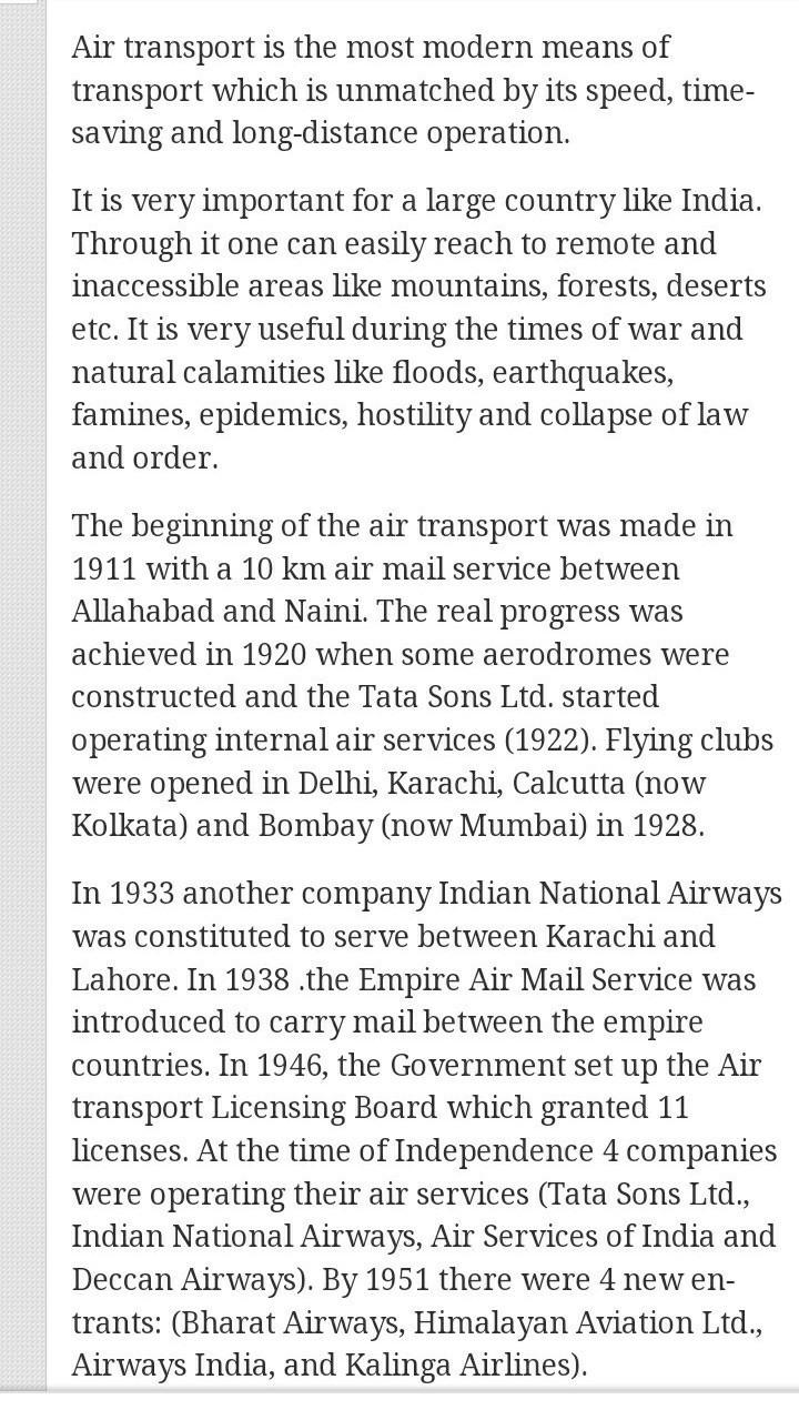 short note on transport
