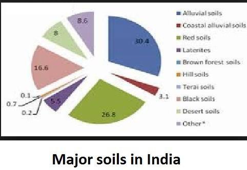 major soil types in india