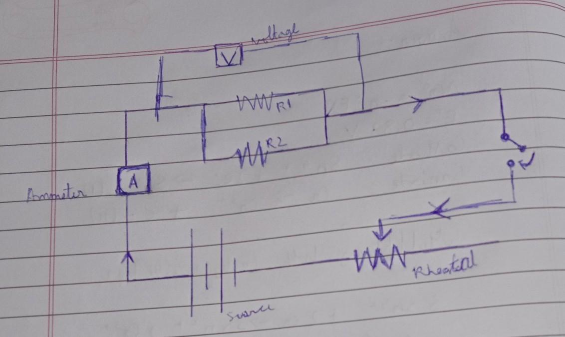 Draw a circuit diagram which depicts two resistor R1 and ...