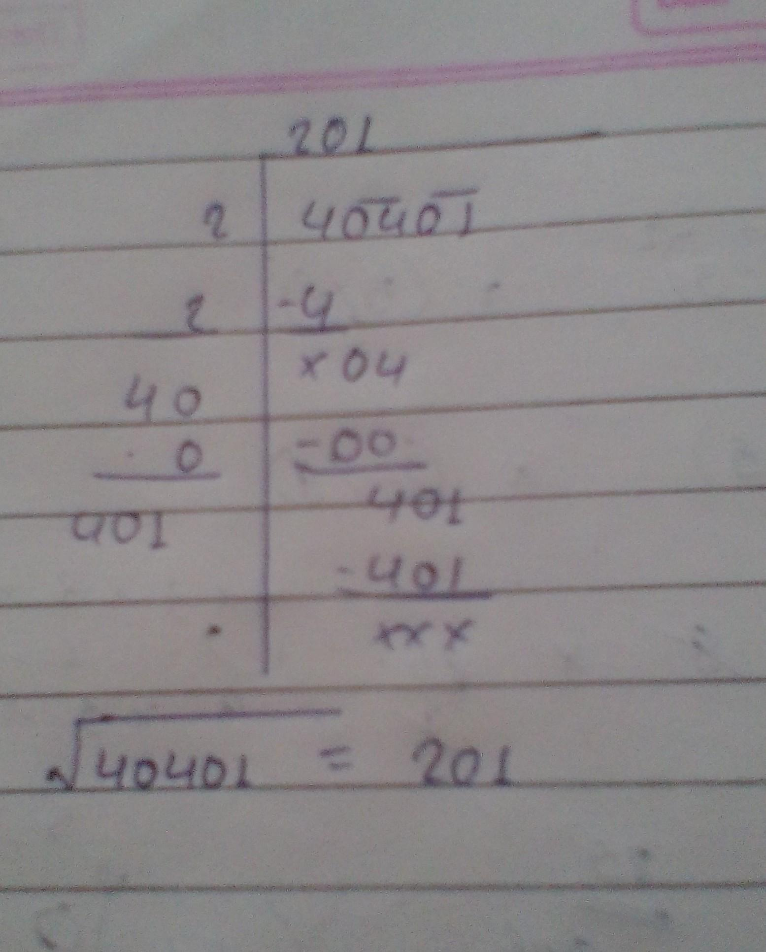 By division method find the square root of (i) 5929 (ii