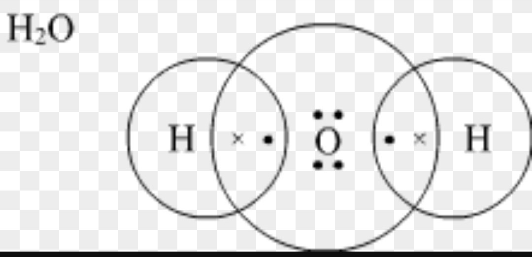 30 electron dot diagram for h2o