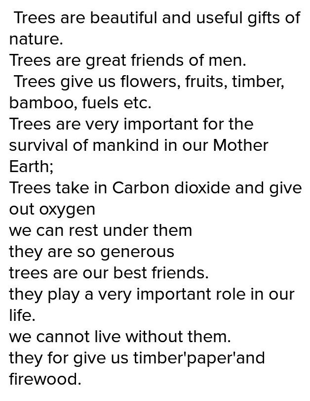 uses of trees in english