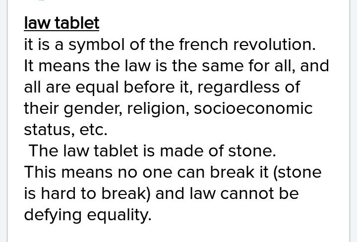 What Does Law Tablet Mean Brainly