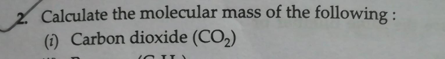 molecular mass of carbon