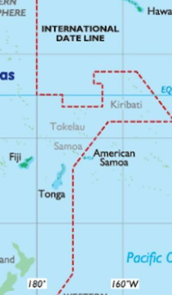 State The Meaning Of International Date Line Brainly In